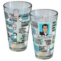 Archer Quote Pint Glass