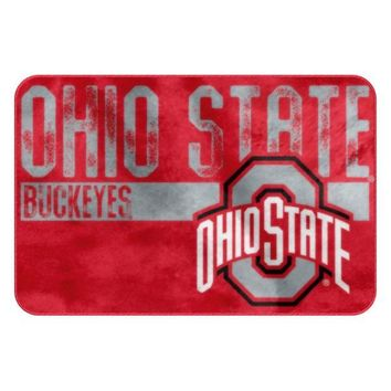 Ohio State Buckeyes Worn Out Bath Mat