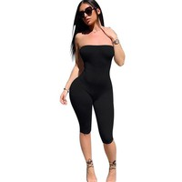 Abasi Strapless Spandex Rompers