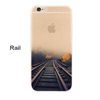 Newest fashion For iPhone 5s 7 6 6S case Ultra Thin Soft Silicon Mountain Landscape For iphone 7 6plus Case Phone Cover cases -0327
