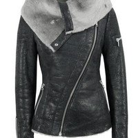 Ash Arnelle Black Leather Biker Jacket at Coggles.com online store