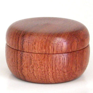 Wooden Pill Box Handcrafted in Bubinga