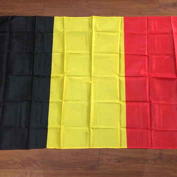 Spot high-quality polyester 90 * 150 Belgian flag hoist flag celebration activities Decoration