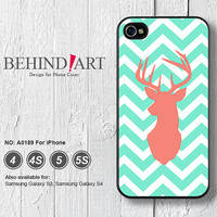Phone Cases iPhone 5 case iPhone 5C Case iPhone 5S case iPhone 4 Case iPhone 4S Case Phone Covers iPhone Case Chevron Elk-A0189