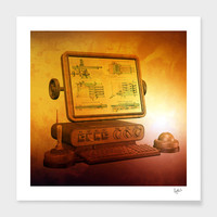 «Steampunk Computer Information System», Limited Edition Fine Art Print by Fotios Pavlopoulos - From $29 - Curioos