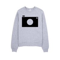 Camera Sweatshirt - Minimal Sweatshirt - Grey Sweatshirt - Graphic Sweatshirt - Hipster Sweatshirt - Gift for photographer