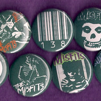 THE MISFITS horror punk Danzig Pins Buttons Badges hardcore 80s