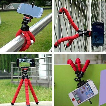 Camera Universal Phone Holder Mini Flexible Sponge Tripod Bracket For iPhone Samsung Stand Mount Accessories