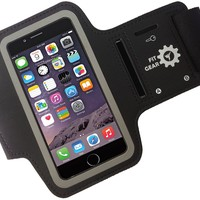 iPhone 6 Armband - Soft Sweatproof Neoprene Anti-slip Screen Protector Case from Fit Gear for your Apple Phone/iPod 6 - Adjustable for Guys & Girls - Protect your investment while running & exercising