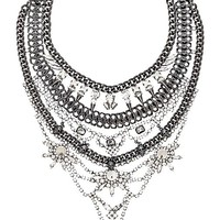 XEVANA Draco Necklace in Gray