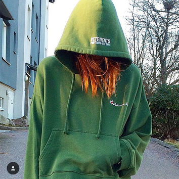 Women Hiphop Streetwear Clothing kanye west box logo hoodie 3in1 Tops Vetements Polizei Twisted Reversible Hoodies