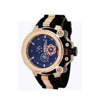 Rose Gold Black Fashion Mens Designer Geneva Silicone Sports Watch Oversized