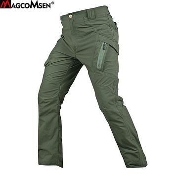 MAGCOMSEN Summer IX9 Tactical Cargo Pant Men Quick-dry Trousers Military Multi-pockets SWAT Combat Thin Paintball Pant AG-PLY-15