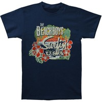 Beach Boys Men's  Surfin USA Tropical T-shirt Blue