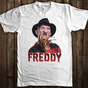 Freddy Krueger Nightmare on Elm St Scary Horror Halloween Graphic T-Shirt