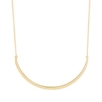 Delicate Curved Bar Pendant