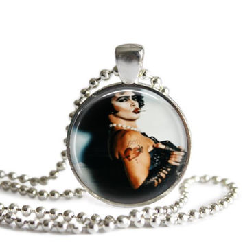 Frank-N-Furter Rocky Horror Picture Show Silver Plated Picture Pendant Necklace