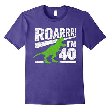 Funny 40th Birthday T-Rex Dinosaur Shirt Gift 40 Year Old