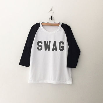 Swag Funny T Shirt Graphic Baseball Tee Shirt Instagram Tumblr Quote Tee Shirt Teens Womens Clothing Print T-Shirts