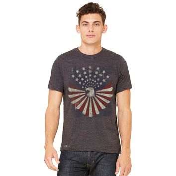 Zexpa Apparel™ American Bald Eagle USA Vintage Flag Men's T-shirt Patriotic Tee