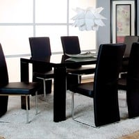 Black, Metal, Sleek Dinette Set | Venice 5 Piece Dining Set