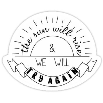 '..::try again::..' Sticker by Nicol Barrera