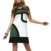 Jessie G. Women's Multi-color Blocked Dress - Medium