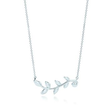 Tiffany & Co. -  Paloma Picasso® Olive Leaf vine pendant in sterling silver.