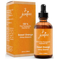 7 Jardins Sweet Orange Pure & Natural Therapeutic Grade Essential Oil - No Dilution - No Fillers- 100% Pure Oil. Enhances Skin And Beauty. 120 ml