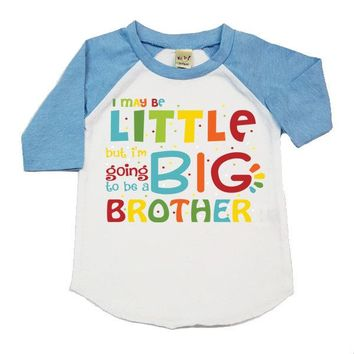 I May Be Little But I'm Going To Be A Big Brother Raglan