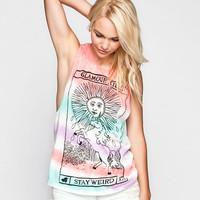 Glamour Kills Unicorns Are Forever Womens Muscle Tank White  In Sizes