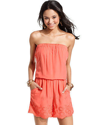 Angie Juniors Romper Strapless From Macys Clothes