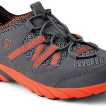 Sperry Top-Sider Shock Light ASV Bungee Sneaker Gray/Orange, Size 8.5M  Men's Shoes