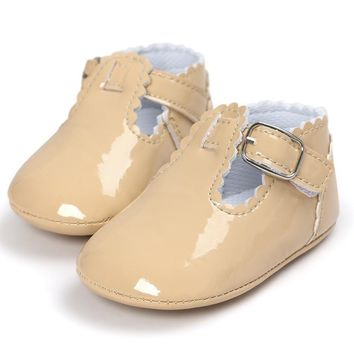 Baby Shoes Soft Sole Moccasin Newborn Babies PU leather Slip-on First Walker