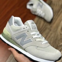New Balance Woman Men Fashion Leather Sneakers Sport Shoes