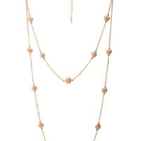 FOREVER 21 Starburst Pendant Necklace Gold/Pink One
