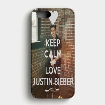 Keep Calm And Love Justin Bieber iPhone SE Case