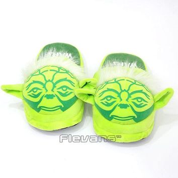 DCCKJN2 Hot New Star Wars Yoda / Darth Vader Adult Plush Slippers Shoes Soft Stuffed Toys Dolls 2 Styles
