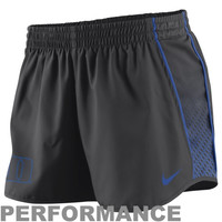 Nike Duke Blue Devils Ladies Stealth Pacer Performance Shorts - Charcoal
