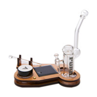 All-in-One Keystone Set by Purr Glass - Glass Dab Rig, Nail, Dome - Assorted Stands