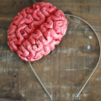 Your Brains are Showing - Anatomical Halloween Brain Headband