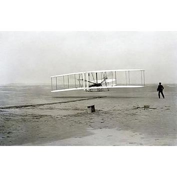 Wright Brothers poster Metal Sign Wall Art 8in x 12in