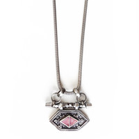 Kai Crux Necklace - Silver/Pink