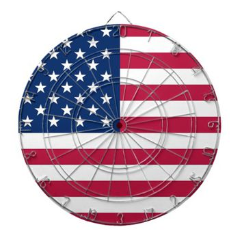 Dartboard with Flag of USA