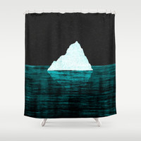 ◇ ICEBERG AHEAD! Shower Curtain by ◇ DANIEL COULMANN