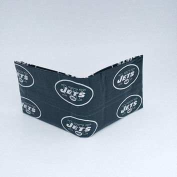 New York Jets Small Green Men's Boy's Kid's Wallet, Billfold Bifold Wallet, Cool Christmas Gifts for Men, Stocking Stuffers