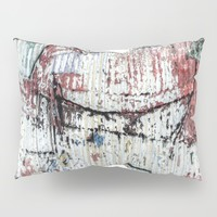 Graffiti Wall 1 Pillow Sham by Claude Gariepy