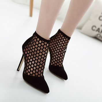 Stiletto High Heel Pumps Shoes Women's Pointy Toe Summer Ankle Fashion Sandals