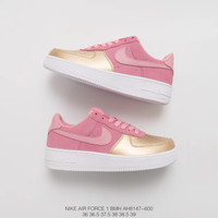 Nike Air Force 1 '07 QS Prism Pink Sheen AH8147-600  Running Sneaker
