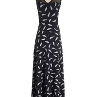Effie's Heart Long Sleeveless Plume With a View Dress